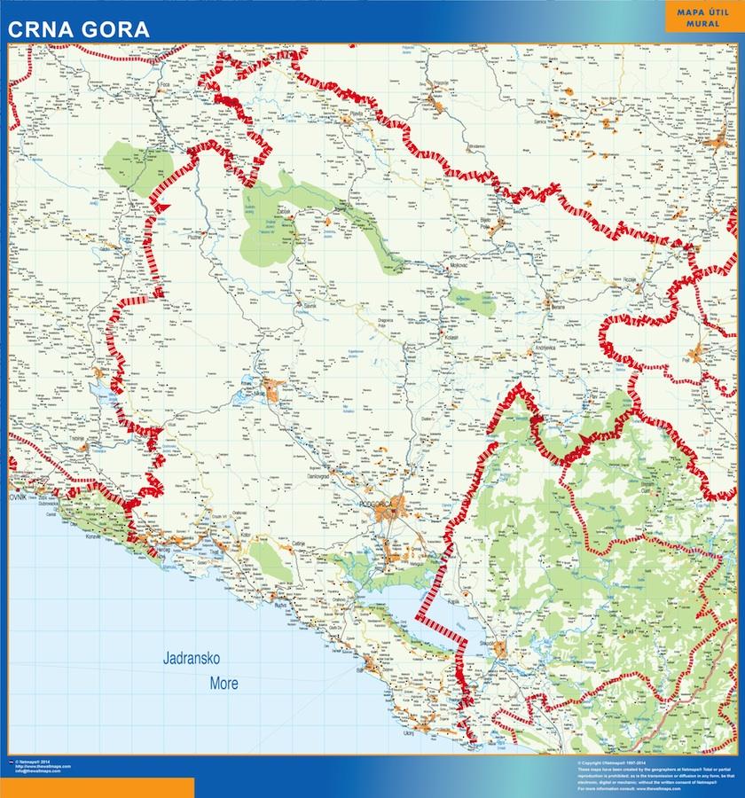 mapa montenegro