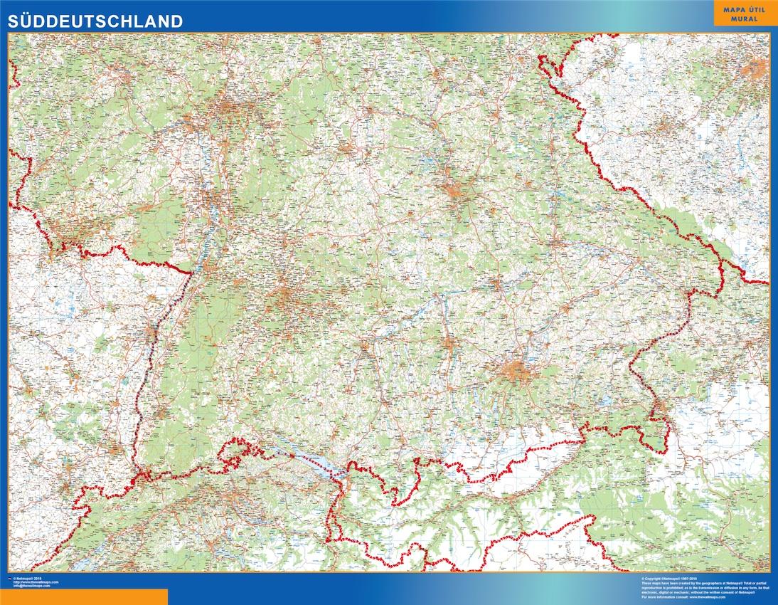 Alemania mapa sur