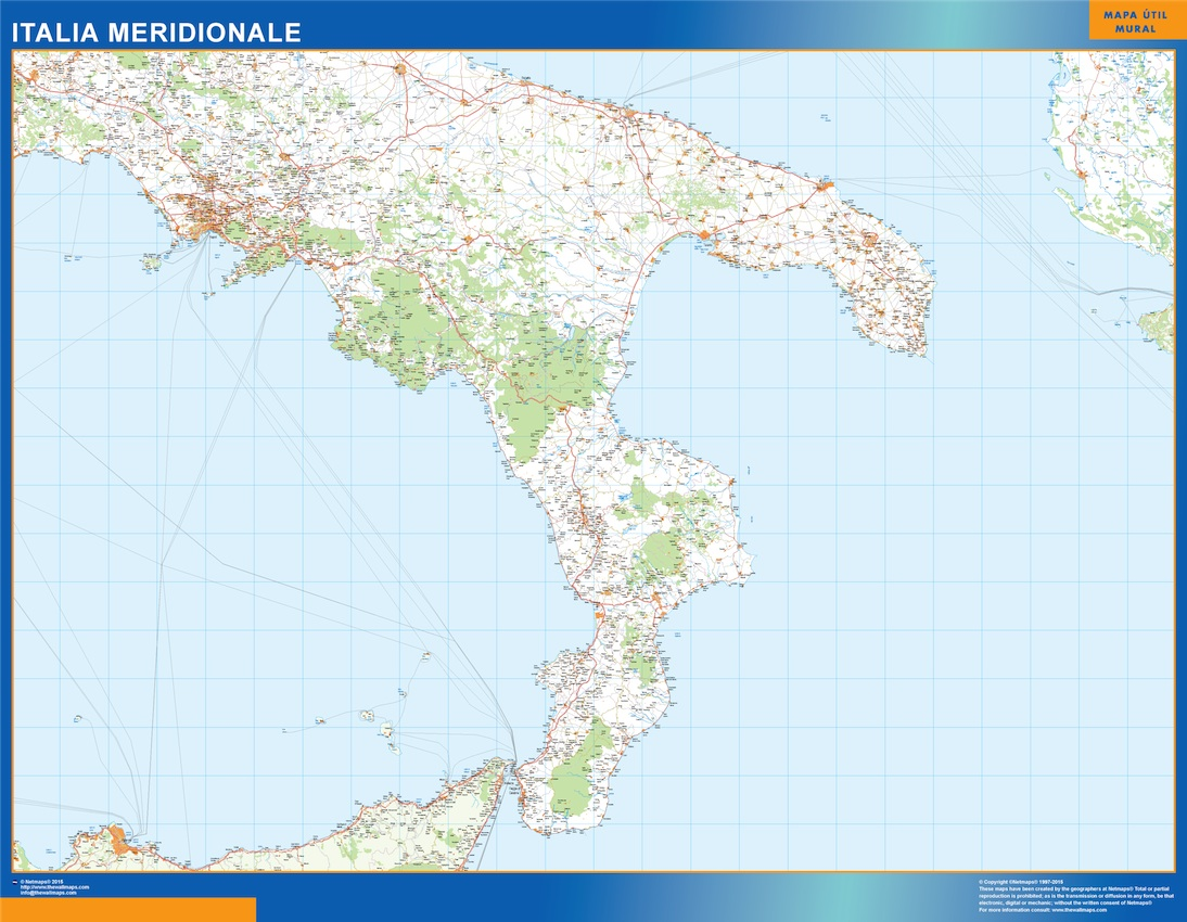 Italia mapa meridional