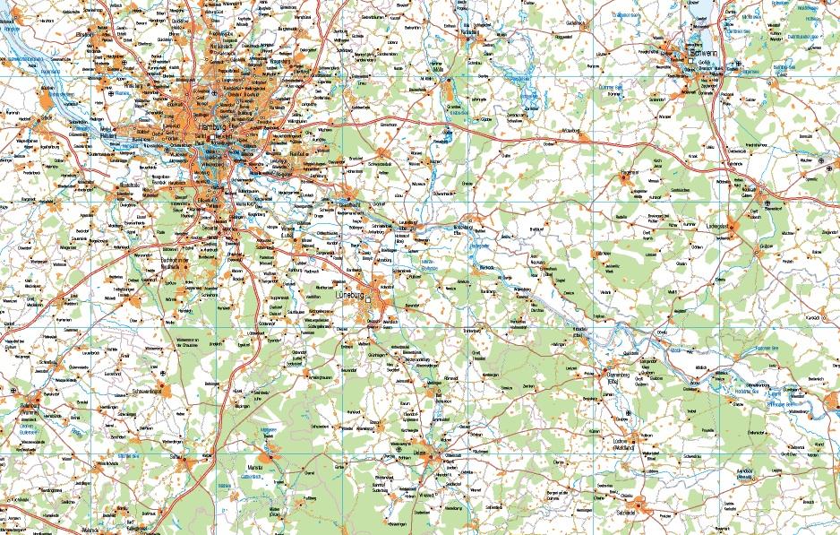 mapa alemania norte