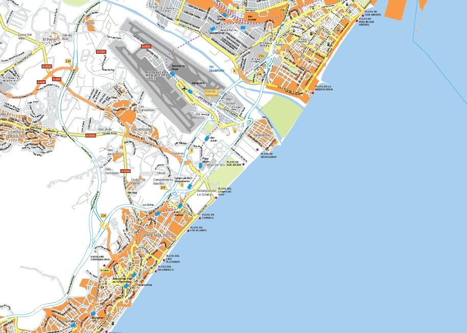 mapa costa malaga