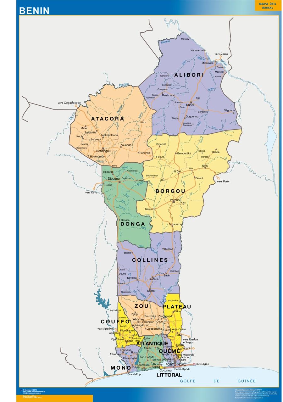 Mapa Benin