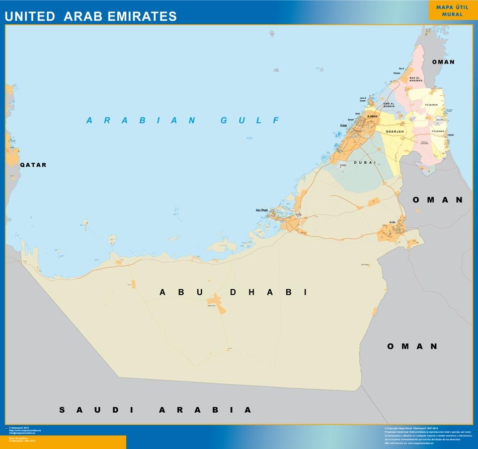 Mapa Emiratos Árabes Unidos