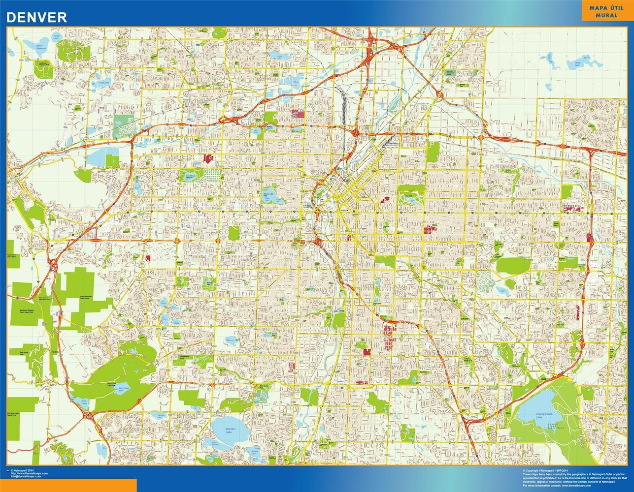 Mapa Denver