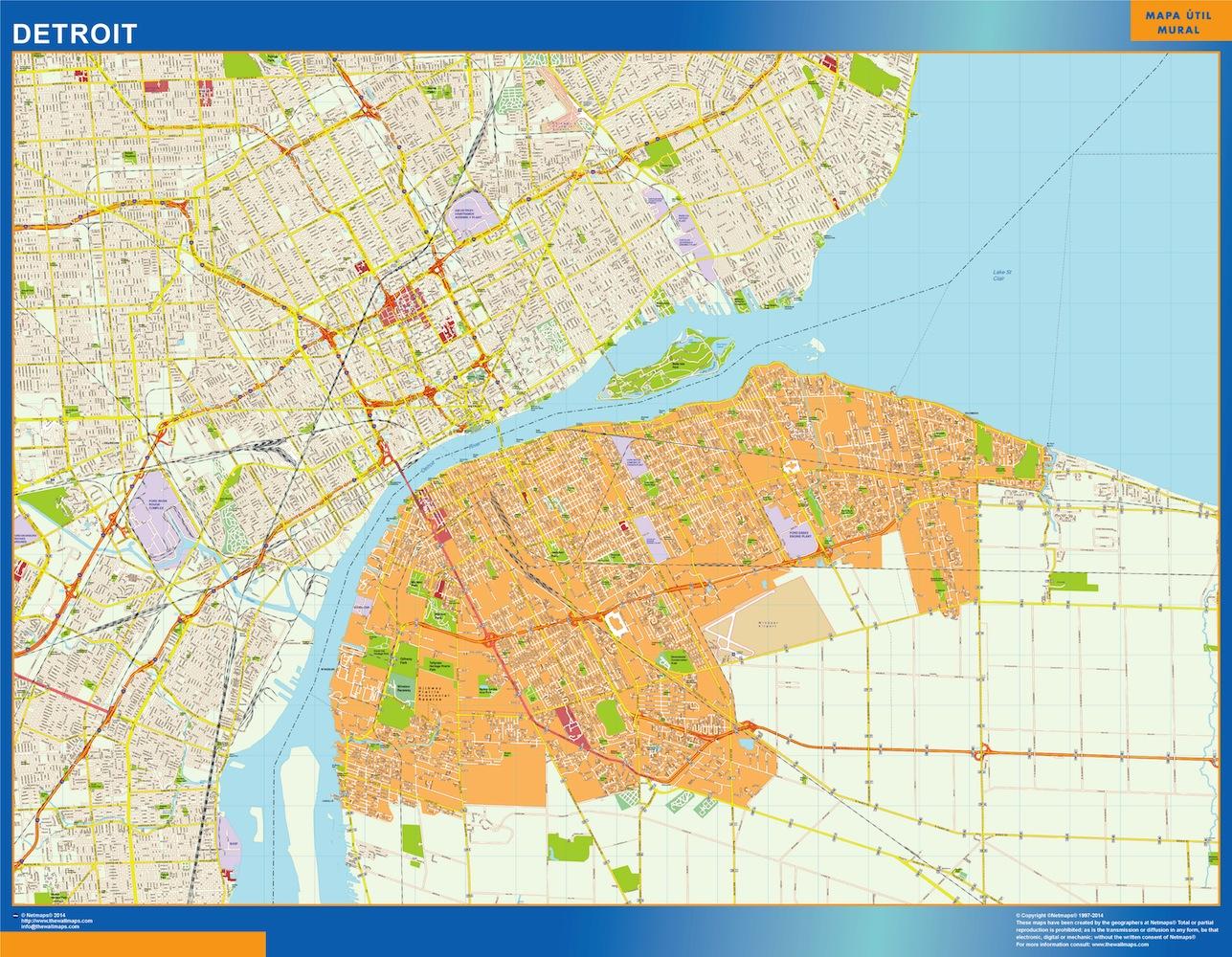 Mapa Detroit