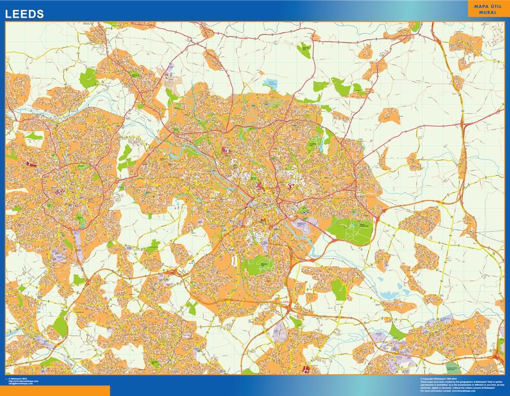 Mapa Leeds