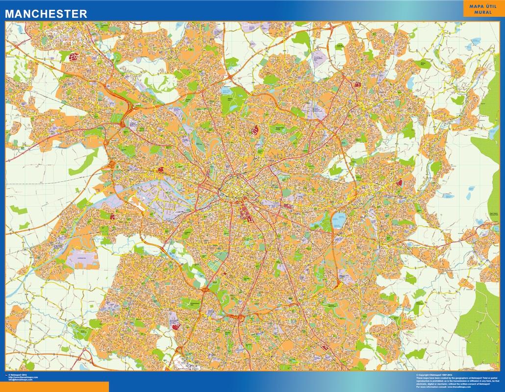 Mapa Manchester