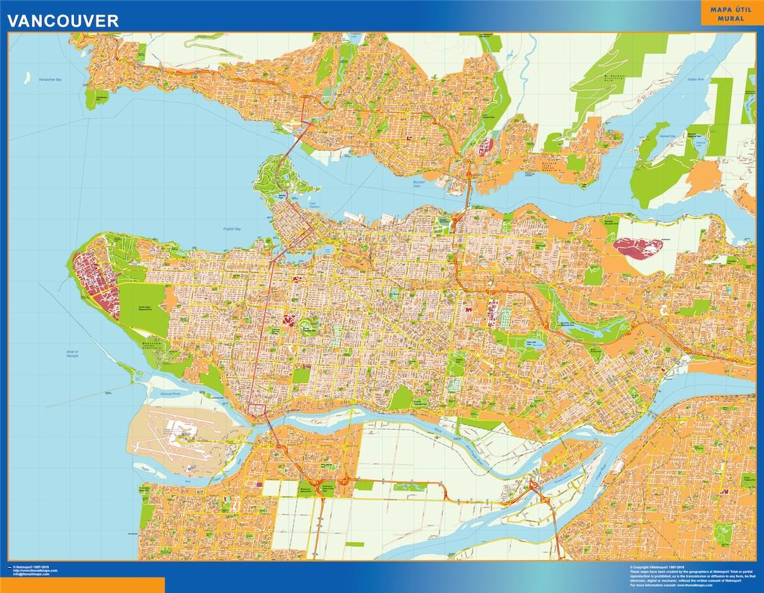 mapa vancouver