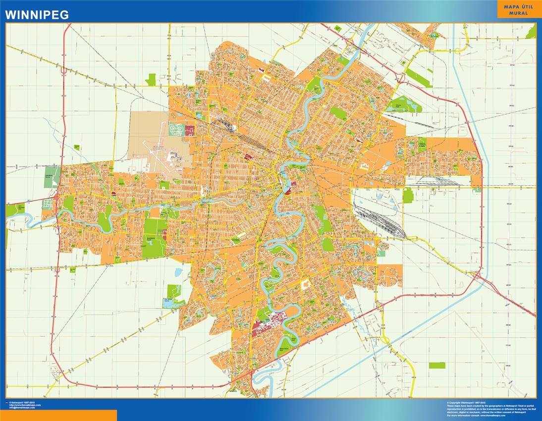 Mapa Winnipeg
