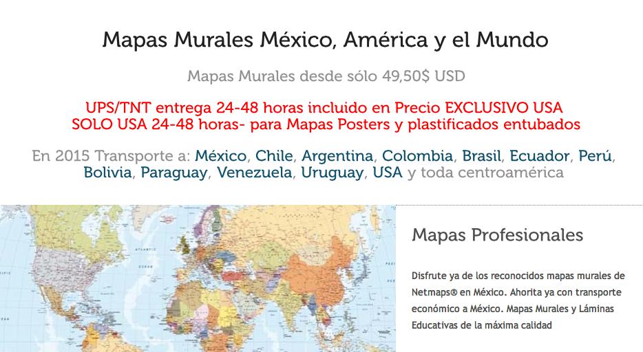 Mapas UPS TNT USA
