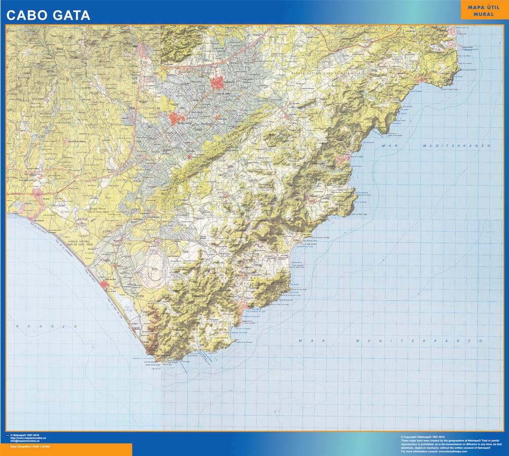 mapa Cabo Gata