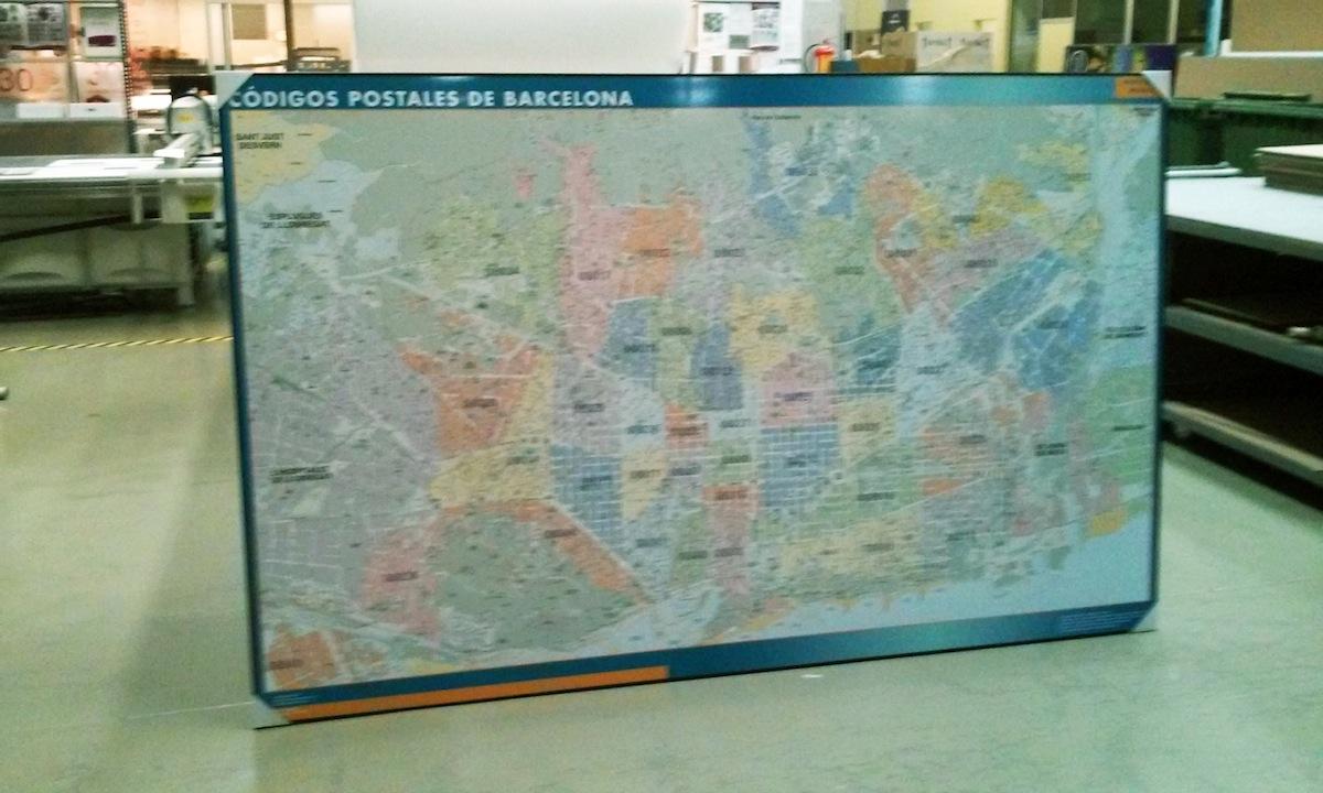 mapa barcelona enmarcado
