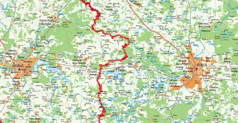 mapa carreteras Lituania