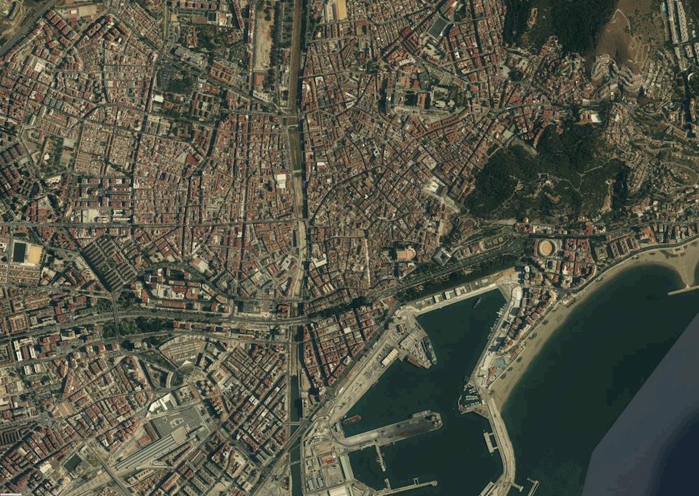M laga fotograf a a rea mapas murales espa a y el mundo - Fotografia aerea malaga ...