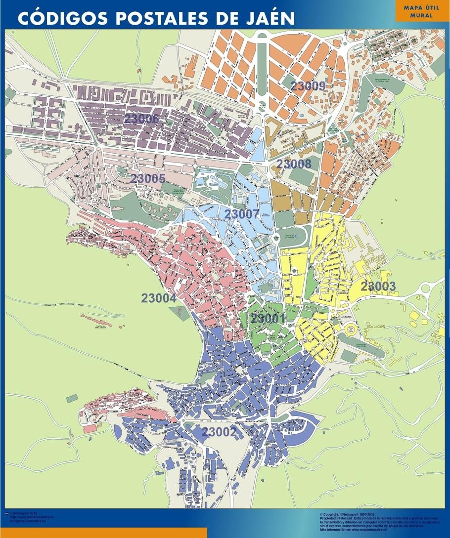 Mapa provincia ja n mapas murales espa a y el mundo - Plano de valdepenas ...