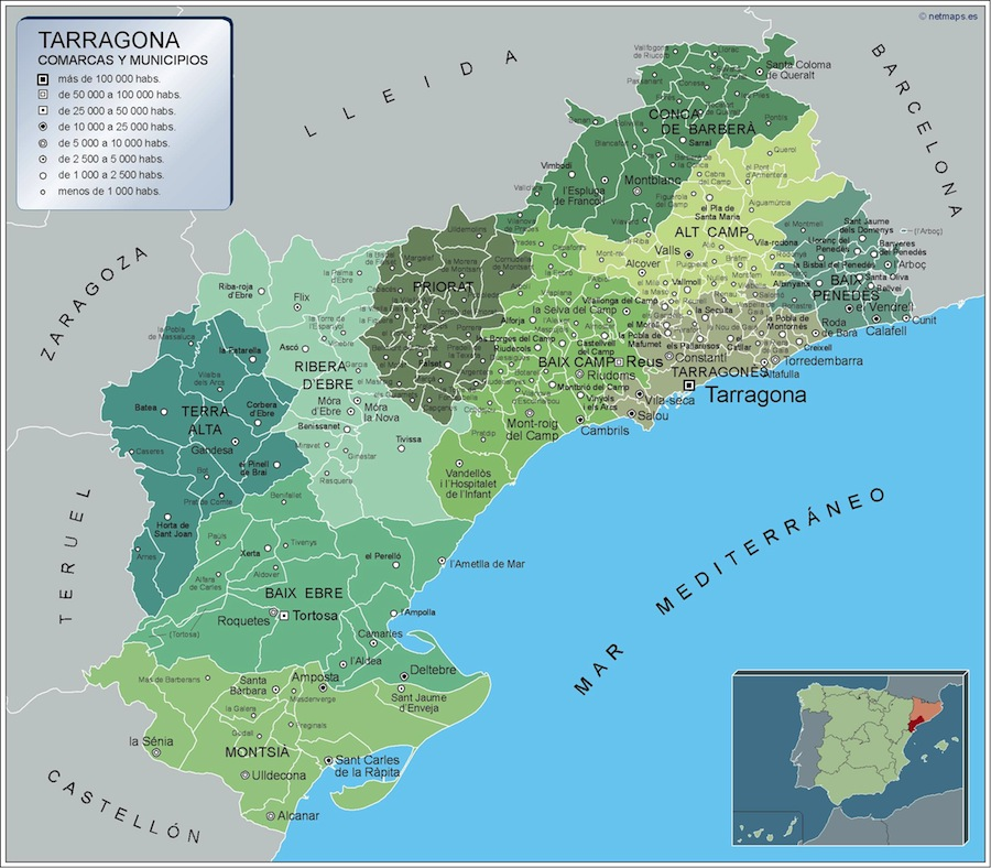 Mapa De Tarragona Pueblos.Mapa De Tarragona Pueblos Mapa Runtothemoonandback
