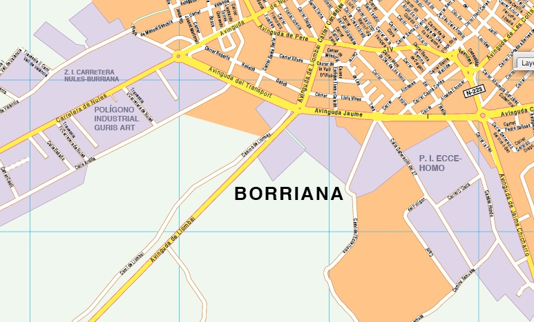 plano municipio borriana