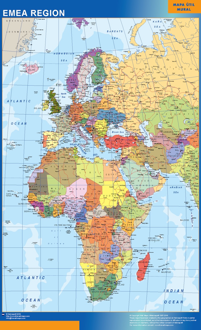 Mapa Emea