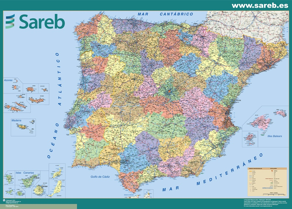 mapa sareb espana