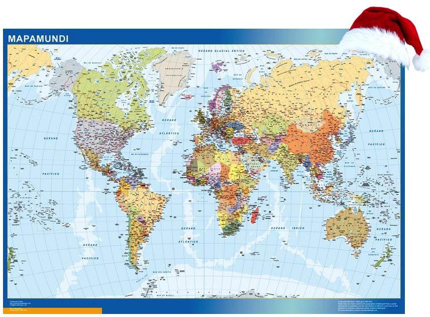 Mapamundi Navidad