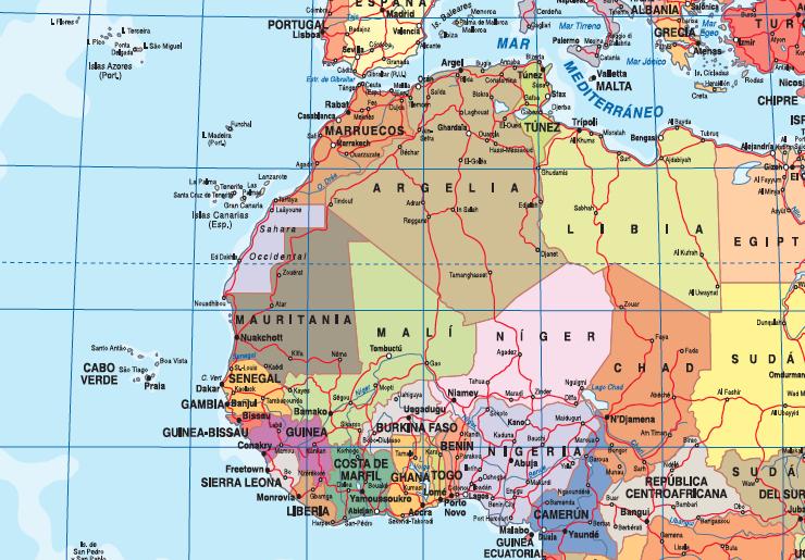 Zoom mapa mundo