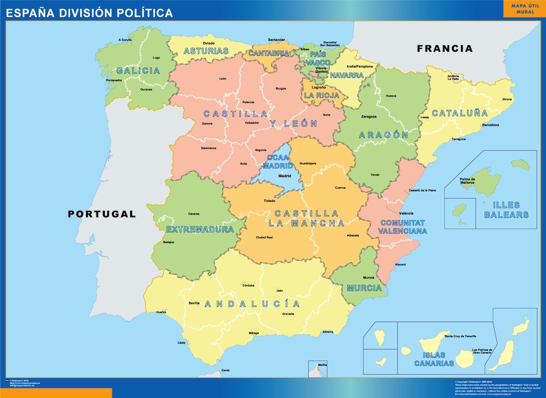 España Division Politica
